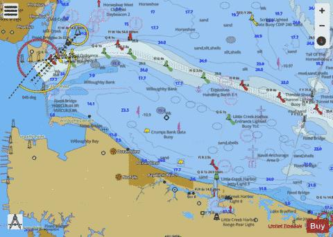 THIMBLE SHOAL CHANNEL Marine Chart - Nautical Charts App