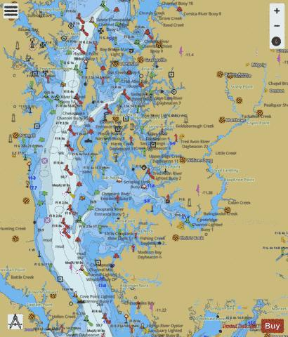 CHEASAPEAKE BAY COVE POINT TO SANDY POINT Marine Chart - Nautical Charts App