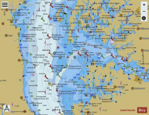 CHESAPEAKE BAY CHOPTANK RIVER AND HERRING BAY Marine Chart - Nautical Charts App
