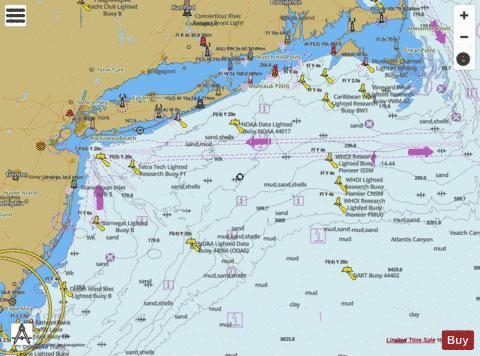 NY APPROACHES - NANTUCKET SHOALS TO FIVE FATHOM BANK Marine Chart - Nautical Charts App