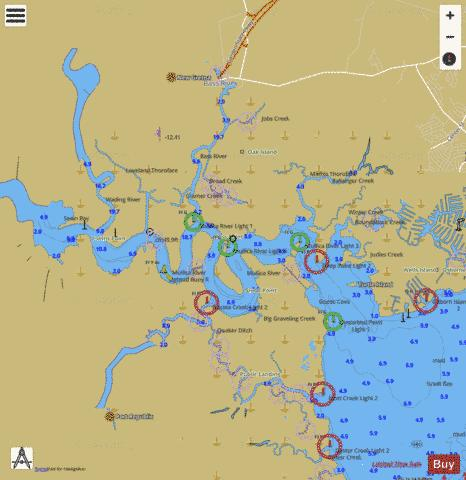 MULLICA RIVER EXTENSION Marine Chart - Nautical Charts App