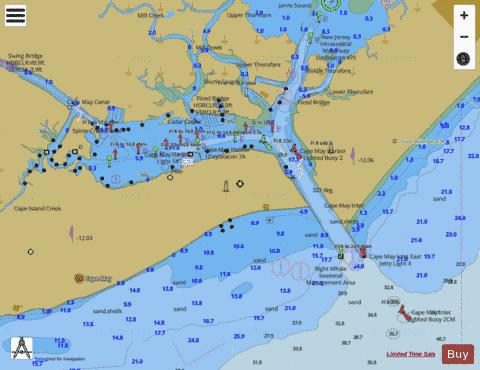 CAPE MAY HARBOR Marine Chart - Nautical Charts App