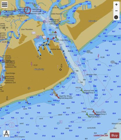 ABSECON INLET Marine Chart - Nautical Charts App