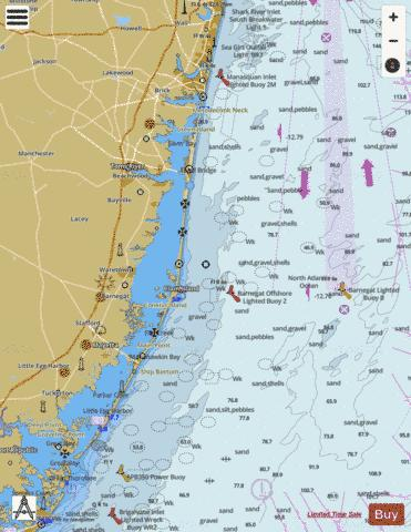 SEA GIRT TO LITTLE EGG INLET Marine Chart - Nautical Charts App