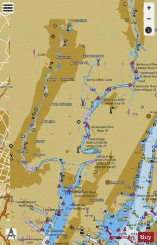 PASSAIC AND HACKENSACK RIVERS Marine Chart - Nautical Charts App