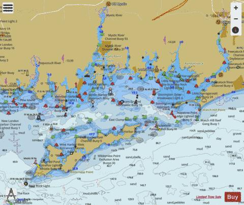 FISHERS ISLAND SOUND Marine Chart - Nautical Charts App