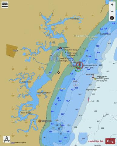 WELLS HARBOR INSET Marine Chart - Nautical Charts App