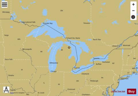 GENERAL CHART OF THE GREAT LAKES Marine Chart - Nautical Charts App