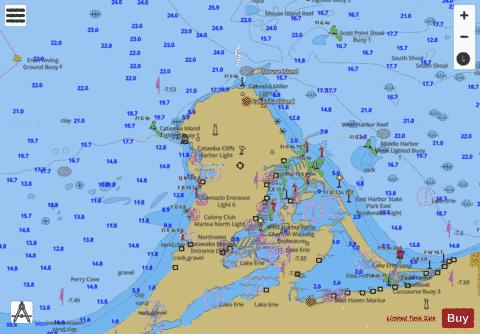 ISLANDS IN LAKE ERIE 27 Marine Chart - Nautical Charts App