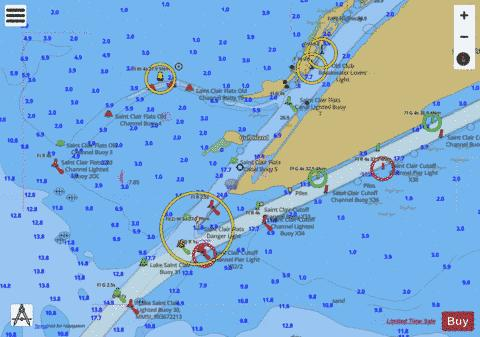 ST CLAIR RIVER PAGE 38 Marine Chart - Nautical Charts App