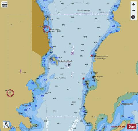 DE TOUR PASSAGE MICHIGAN Marine Chart - Nautical Charts App