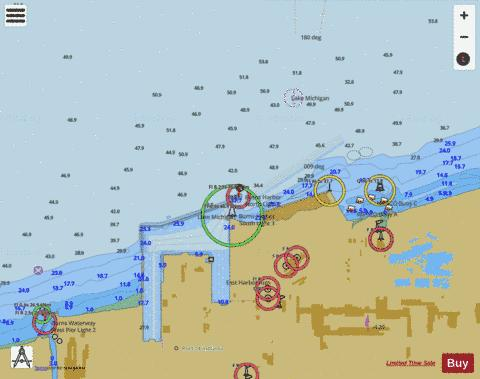 BURNS INTERNATIONAL HBR INDIANA Marine Chart - Nautical Charts App