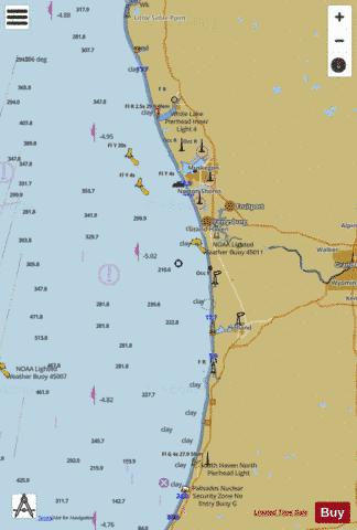 LAKE MICHIGAN SOUTH HAVEN TO STONY LAKE Marine Chart - Nautical Charts App