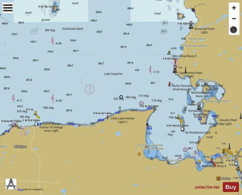 LAKE SUPERIOR ST MARYS RIVER TO AU SABLE POINT Marine Chart - Nautical Charts App