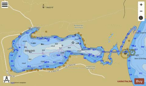 LAC LA BELLE HARBOR MICHIGAN Marine Chart - Nautical Charts App
