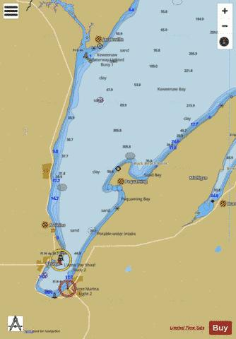 KEWEENAW BAY LAKE SUPERIOR Marine Chart - Nautical Charts App