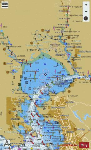 SAN FRANCISCO BAY TO SAN PABLO BAY Marine Chart - Nautical Charts App