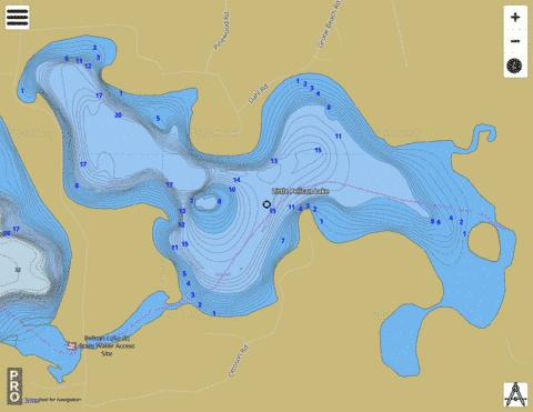 Little Pelican Lake Fishing Map - i-Boating App