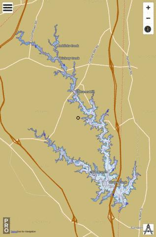 Randleman Lake Fishing Map - i-Boating App