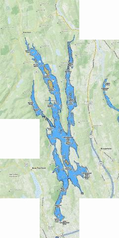 Lake Candlewood Fishing Map - i-Boating App