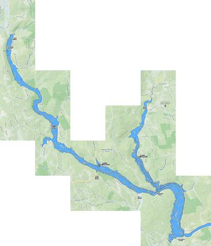 Lake Lillinonah Fishing Map - i-Boating App