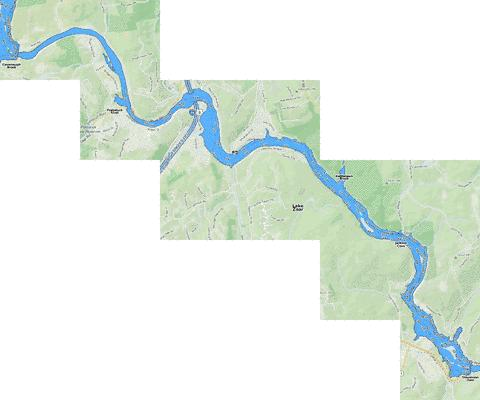 Lake Zoar Fishing Map - i-Boating App