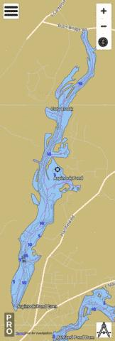 Aspinook Pond Fishing Map - i-Boating App