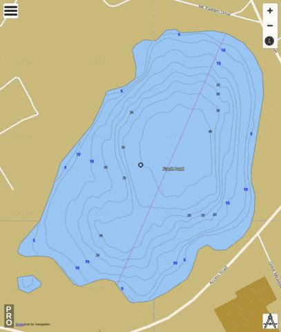 Frash Pond Fishing Map - i-Boating App