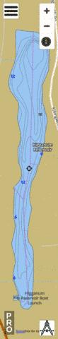 Higganum Reservoir Fishing Map - i-Boating App