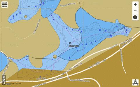 Maltby Lake #1 Fishing Map - i-Boating App