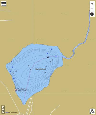 West Side Pond Fishing Map - i-Boating App