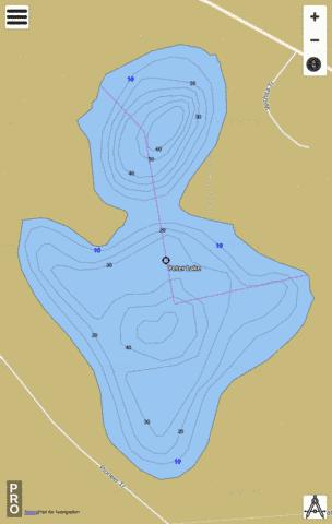 Peter Lake Fishing Map - i-Boating App
