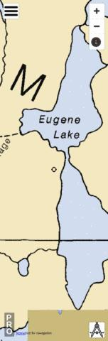 Eugene Lake Fishing Map - i-Boating App