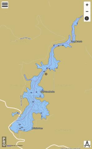 Wolf Creek Lake Fishing Map - i-Boating App