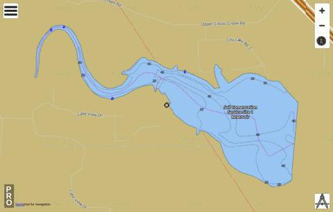 Soil Conservation Service Site 1 Reservoir Fishing Map - i-Boating App