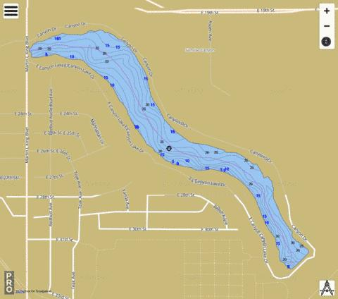 Canyon Lake Number 6 Fishing Map - i-Boating App