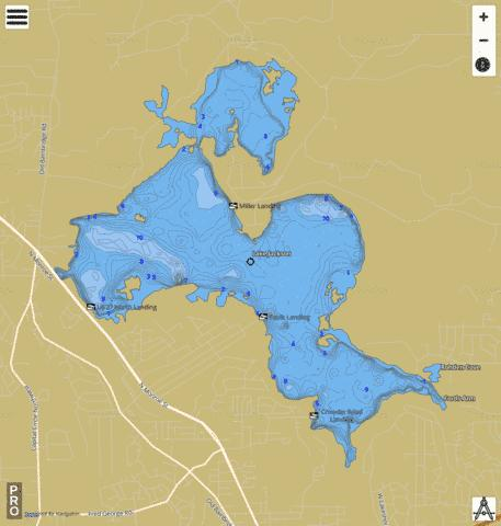 LAKE JACKSON Fishing Map - i-Boating App