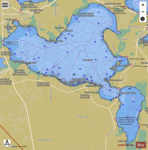 LAKE HARRIS Fishing Map - i-Boating App