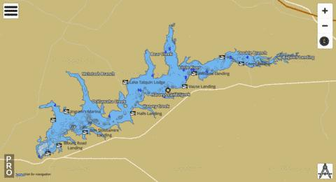 LAKE TALQUIN Fishing Map - i-Boating App