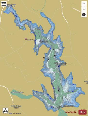 Randy Poynter Reservoir(Parkers Lake) Fishing Map - i-Boating App