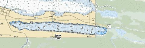 Fanny Hooe, Lake Fishing Map - i-Boating App