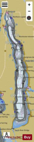 Torch Lake Fishing Map - i-Boating App