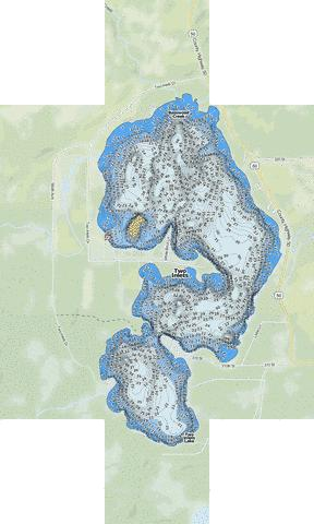 Two Inlets Fishing Map - i-Boating App