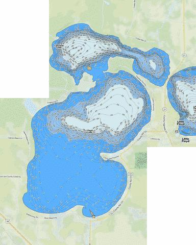 Floyd Fishing Map - i-Boating App