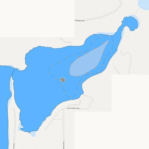 Big Portage (East Bay) Fishing Map - i-Boating App