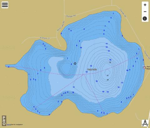 Perry Fishing Map - i-Boating App