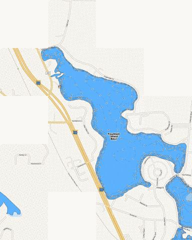 Fountain (West Bay) Fishing Map - i-Boating App