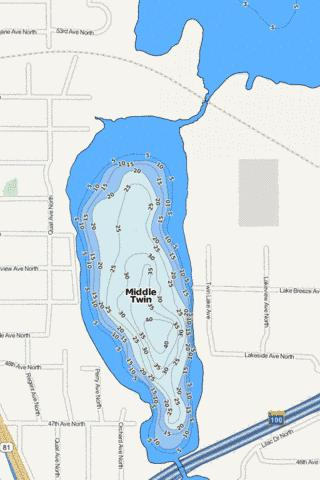 Middle Twin Fishing Map - i-Boating App