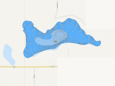 Brush Fishing Map - i-Boating App
