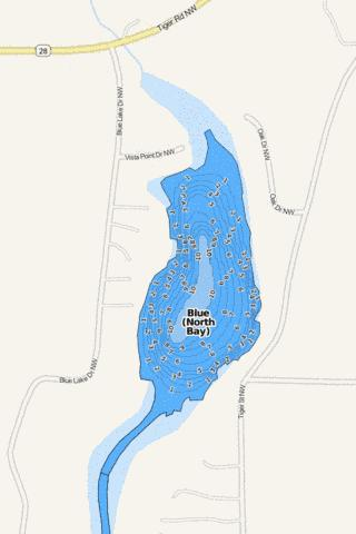 Blue (North Bay) Fishing Map - i-Boating App